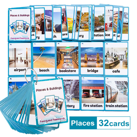 Karty obrazkowe -  'Places and Buildings' Learning Fun (1)