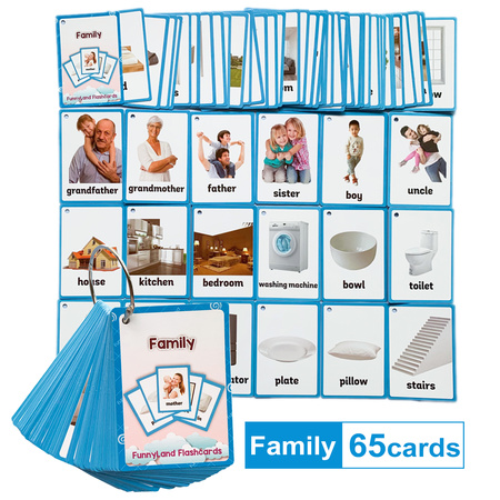 Karty obrazkowe -  'Family and House' Learning Fun (1)