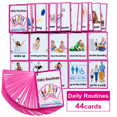 Karty obrazkowe -  'Daily Routines' Learning Fun (1)