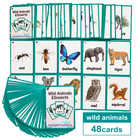 Karty obrazkowe -  'Wild Animals and Insects' Learning Fun (1)