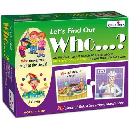 Gra językowa - 'Let's Find out- Who?' Creative Educational (1)