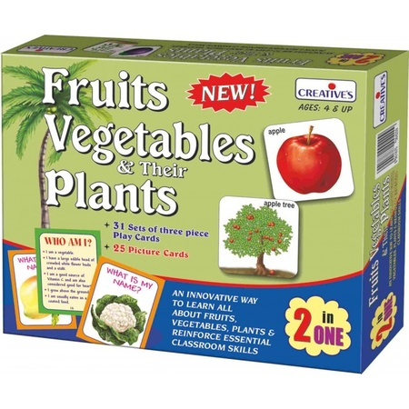 Gra językowa - 'Fruits Vegetables and their Plants 2 in 1' Creative Educational (1)